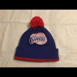 L.A. Clippers Mitchell and Ness Beanie Hat